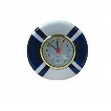 SMALL LIFE RING CLOCK WITH ALARM STAND ALONE BATTERY POWERED 9CM