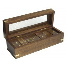 Beautiful Dominoes Set, Wood, 20cm