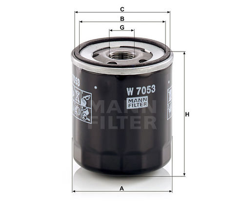 Mann Oil Filter W7053 this filter supersedes W712/8