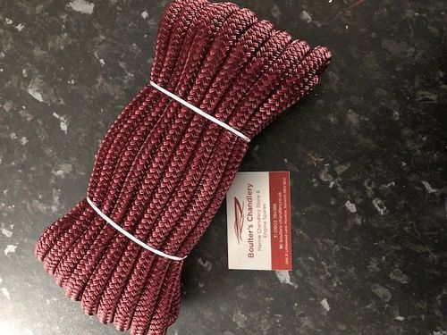 Kingfisher 10M Burgandy Pre-Spliced Dockline Mooring Rope 12mm