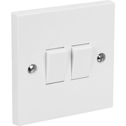 2 GANG 2 WAY 10A SWITCH SOCKET