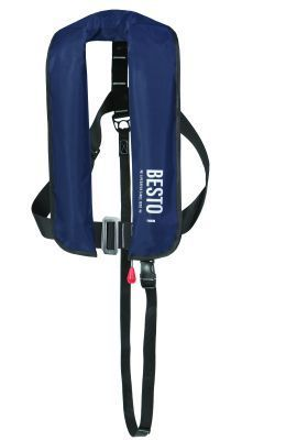 Lifejacket Inflatable Adult Automatic/Harness Besto 165N Blue Navy