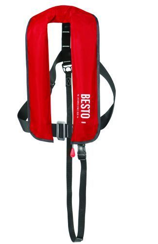 Lifejacket Inflatable Adult Automatic/Harness Besto 165N Red