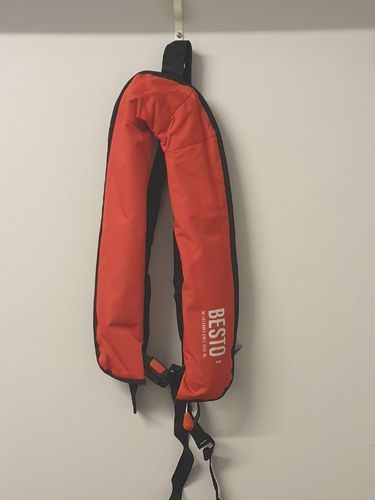 Lifejacket Inflatable Adult Automatic/Waistbelt Besto 165N Red